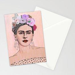 Peach Frida Kahlo Stationery Cards