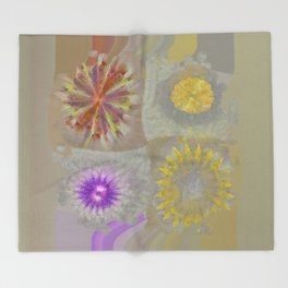 Anticapitalistically Combination Flower  ID:16165-030023-59450 Throw Blanket
