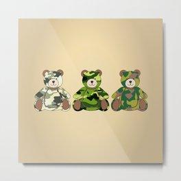 Army Bear Metal Print