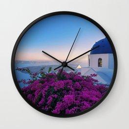 The Beauty of Santorini Wall Clock