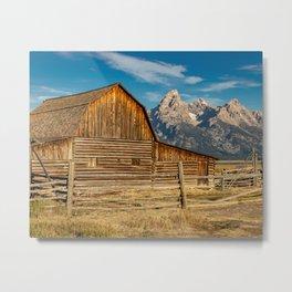 John Moulton Barn and Grand Teton Metal Print