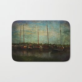 Historical Harbor Woudrichem The Netherlands Bath Mat