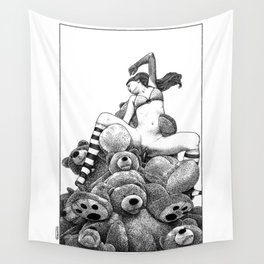 asc 606 - La récolte du miel (The vixen and the bears) Wall Tapestry
