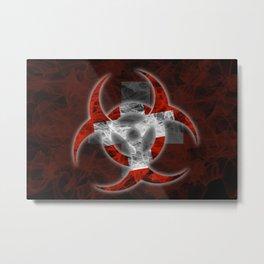 Biohazard Switzerland, Biohazard from Switzerland, Switzerland Quarantine Metal Print