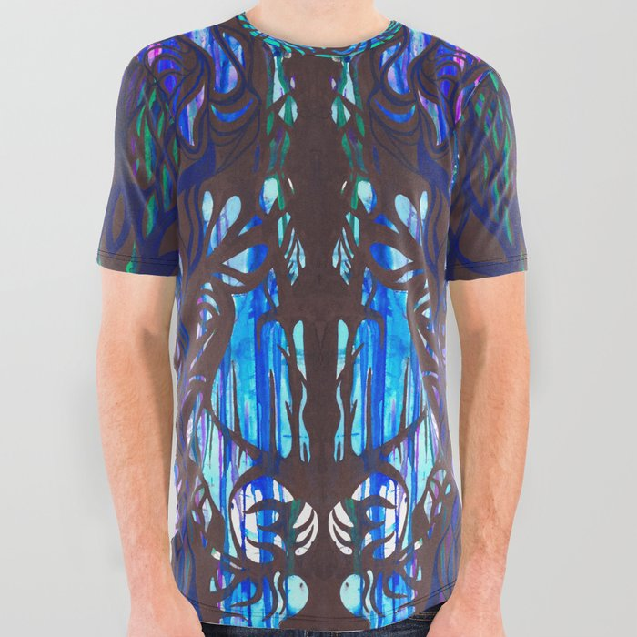 Drippy Trees All Over Graphic Tee