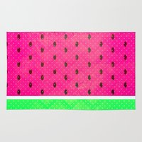watermelon Area & Throw Rugs featuring Watermelon by M Studio