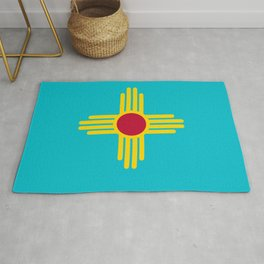 New Mexico Flag Turquoise  Rug