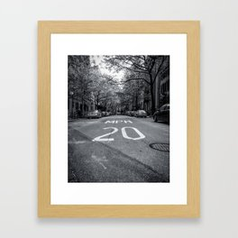 Greenwich Village Speed Limit (NYC) Framed Art Print