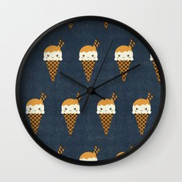 Evil Ice Cream Cones Wall Clock