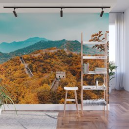 The Great Wall of China in Autumn (Color) Wall Mural