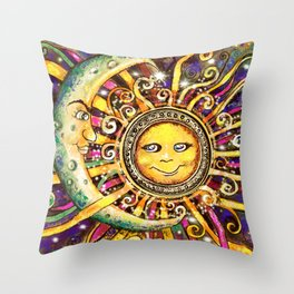 Celestial Soulmates Throw Pillow