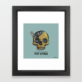Death where is thy sting Framed Art Print