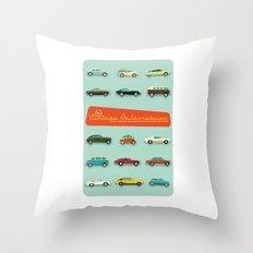 Vintage Automobiles Throw Pillow
