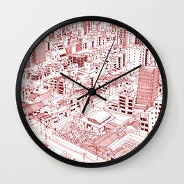 Asakusa in Red Wall Clock