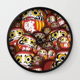 Daruma dolls Wall Clock