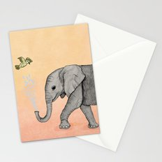 Elephant and the Bird Stationery Cards