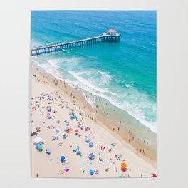 Manhattan Beach Drone Shot Poster