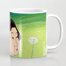 Mrs Hokusai Blows A Dandelion For The Baby Coffee Mug