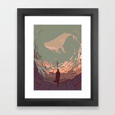 DH: Late Night Whale Framed Art Print