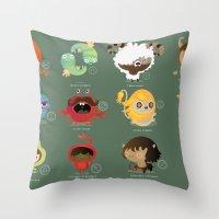 zodiac Throw Pillows featuring The zodiac by Maria Jose Da Luz
