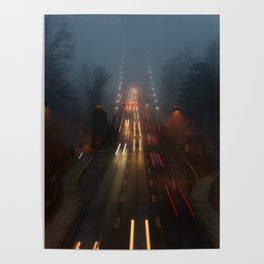 Lions Gate in the Fog Poster