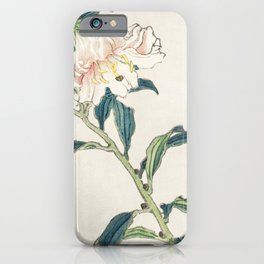 Lily by Kono Bairei (1844-1895) iPhone Case