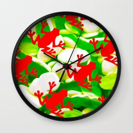 Box of Frogs Wall Clock