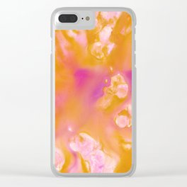 Orange Float Clear iPhone Case