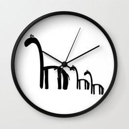 Family of Giraffes Wall Clock