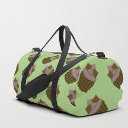 Milk Chocolate Pixel Cupcake Pattern Duffle Bag