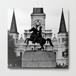 Jackson Square, squared Metal Print