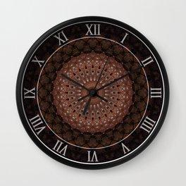 Mandala in warm brown tones Wall Clock