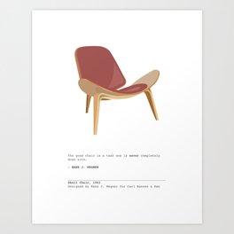 Mid-Century Shell Chair Art Print