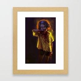 Vampire Girl (#Drawlloween2016 Series) Framed Art Print