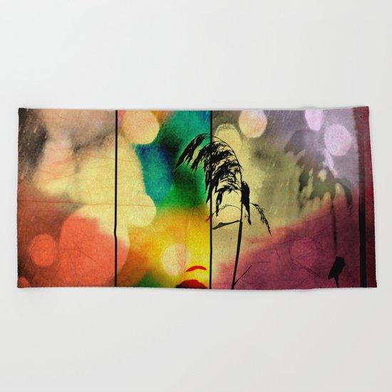 Rainbow Grass Diamond Beach Towel