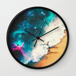 Wrapped In The Wave Wall Clock