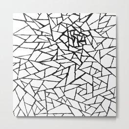 Cracked Web Metal Print