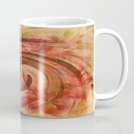 Peach Floral Swirl Abstract Coffee Mug
