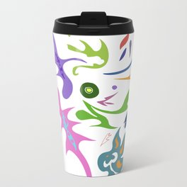 My pieces of invisible worlds Metal Travel Mug