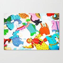 Paper Clothes Canvas Print