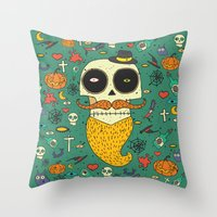 halloween Throw Pillows featuring Halloween by Ariadna