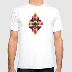 Retro Artwork MEDIUM White Mens Fitted Tee