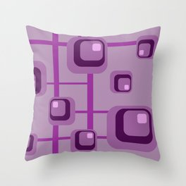Violet Modern Pattern Rectangles Stripes #geometry Throw Pillow