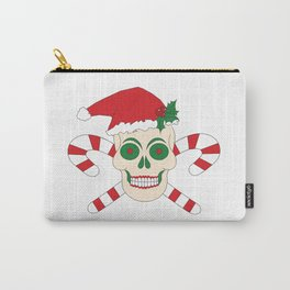 Creepy Christmas Santa Skull Carry-All Pouch