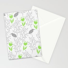 KiwiGarden - green and gray Stationery Cards