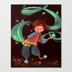 Little magic in the woods Canvas Print