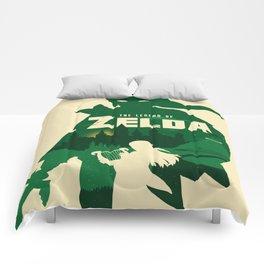 The legend of Zelda minimalist art Comforters