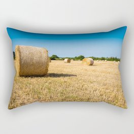 Hay bales in France Rectangular Pillow