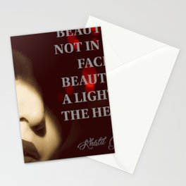 BEAUTY LIES IN THE HEART Stationery Cards