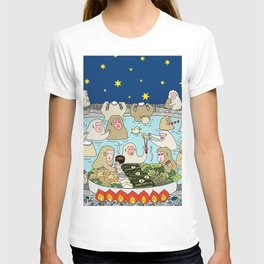 Snow Monkeys in Hot Spa T-shirt